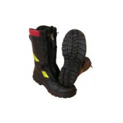 Buty strażackie FHR model 006 PL (skóra tłoczona) (zamek i sznurowadła)