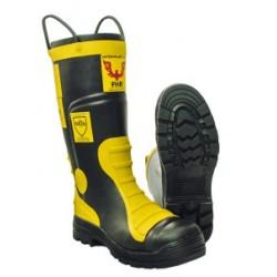 Buty strażackie gumowe FHR 004 (z wkładką antyprzecięciową i trudnopalną)